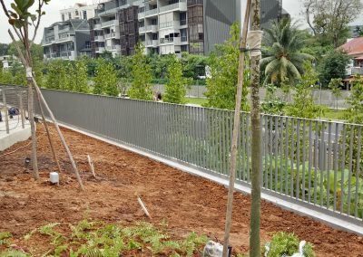 Boundary Fencing At Principal Garden