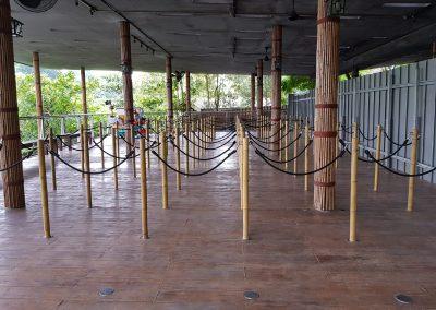 Stanchion Queue Pole